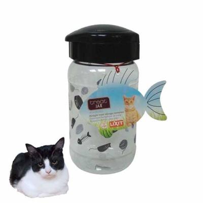 투명용기 고양이 간식 보관용기(473ml)