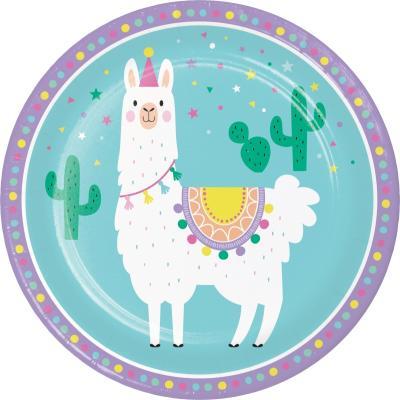 라마 종이접시 9인치 CC Llama Party paper plates