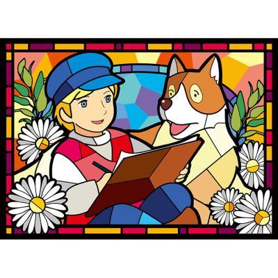 플란다스의 개 들꽃 우정 (패브릭) 보석십자수 38x52