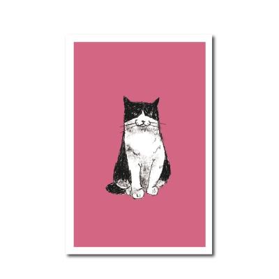 북성로 고양이 엽서 핑크