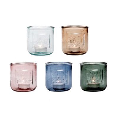 [Hubsch]Tealight holder, recycled glass 티라이트홀더