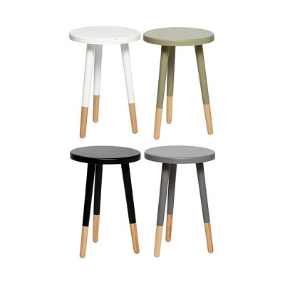 [Hubsch]Stool, round, wood 스툴
