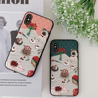 아이폰7플러스 딩그레이 딸기케이크 카드케이스