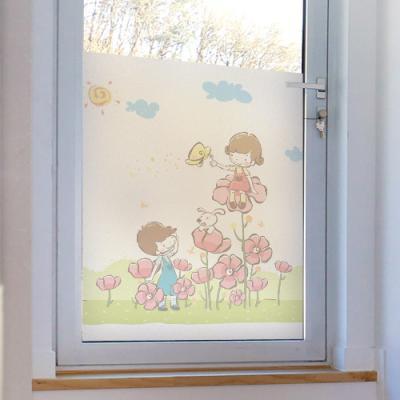 ij757-꽃밭에아이들_글라스시트지