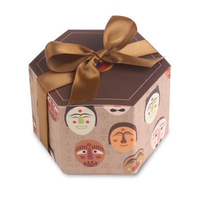 전통탈 육각 상자 소 (2개)