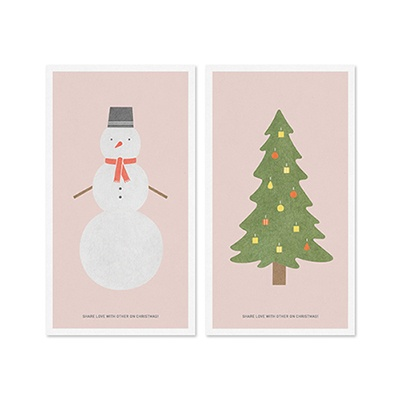 Winter card set_Pink