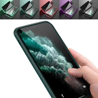아이폰XR XS MAX X 컬러 라인 강화유리 하드 폰케이스
