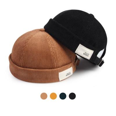 [디꾸보]코듀로이 코튼 패치 와치캡 모자 HN664