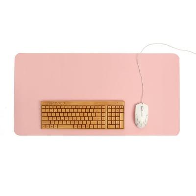 파스텔 휴대용 가죽 데스크 매트(핑크)/ 책상패드