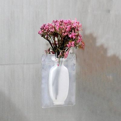 붙이는 실리콘 욕실 창문 꽃병 인테리어 데코
