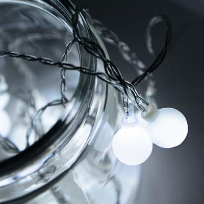 LED 20P 앵두 건전지(밧데리)전구[백색]