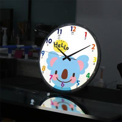 ng091-LED시계액자35R_귀여운동물친구들