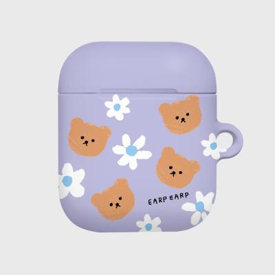 Dot flower bear-purple(Hard air pods)