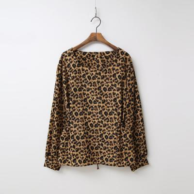 Leopard Puff Blouse