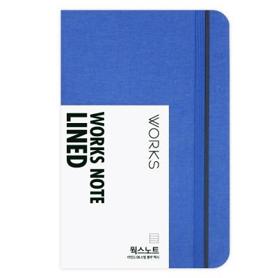 [무료 이니셜각인]웍스 노트 라인드 08 스틸 블루 맥시