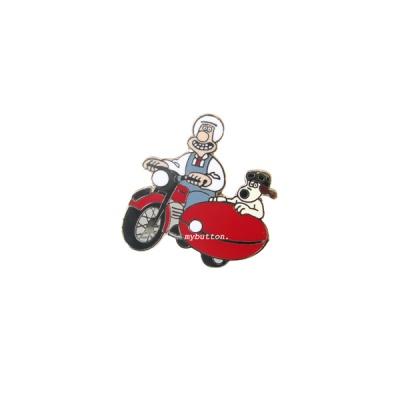 월레스와 그로밋 빈티지뱃지(Moterbike & Sidecar)