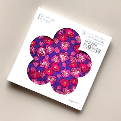 제이씨핸즈 이너플라워손수건 02_Flower of RedViolet