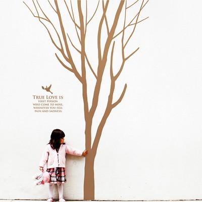 해피스토리 (완제품A타입) (나무1그루) 그래픽스티커 포인트 시트지
