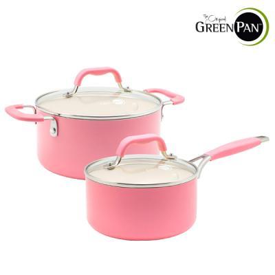 그린팬 요크 핑크 냄비2종/편수16cm+양수20cm