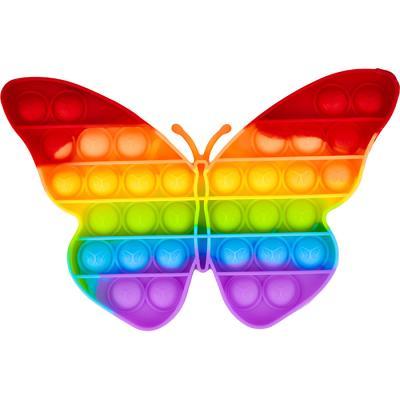 레인보우 푸쉬 팝 버블 - 동물 나비