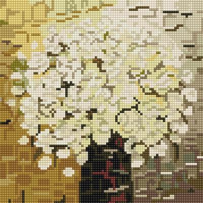 아이보리 화분 (캔버스형) 보석십자수 25x25