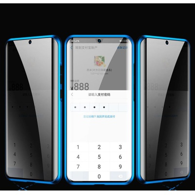 아이폰XR 마그네틱 사생활보호 투명글라스 풀커버