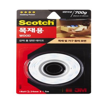 3M 스카치™ 강력 목재용 폼 양면테이프 WD215