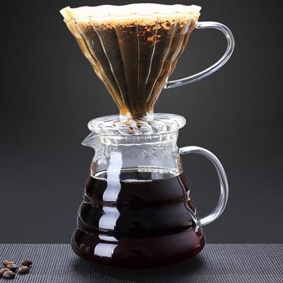 핸드메이드 유리 커피 필터