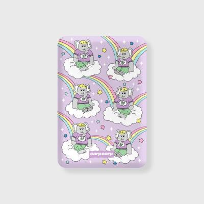 kkikki rainbow cloud-purple(무선충전보조배터리)