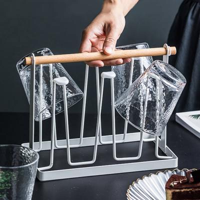 심플 물빠짐 컵정리대 컵꽂이 컵홀더