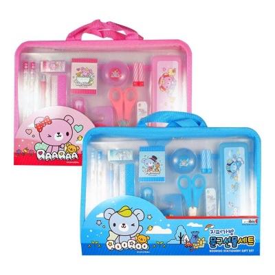아이비스 지퍼가방문구선물세트2(CR)-핑크