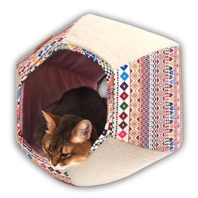 애완 동물 반려 고양이 휴식 공간 인디언 하우스 방석