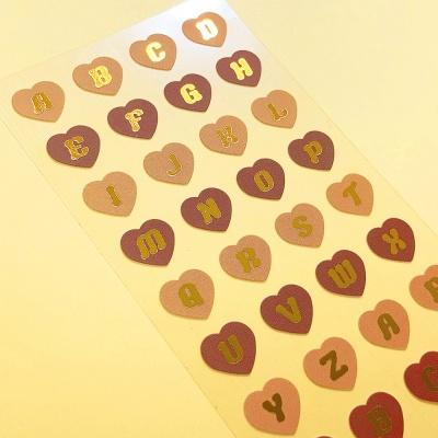 반짝반짝 Heart Alphabet Latte 칼선 스티커