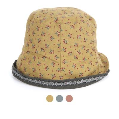[디꾸보]바이저 장식 잔꽃 벙거지 모자 AC836