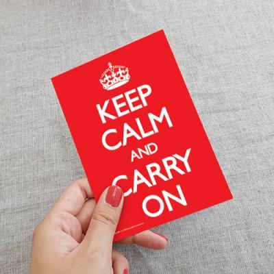 [PYRAMID] Keep Calm and Carry On 엽서
