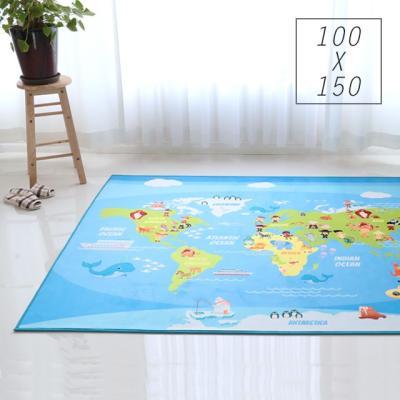 주노데코 세계지도 카페트 100x150cm