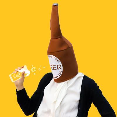 [백수건달] 대왕 맥주병 모자