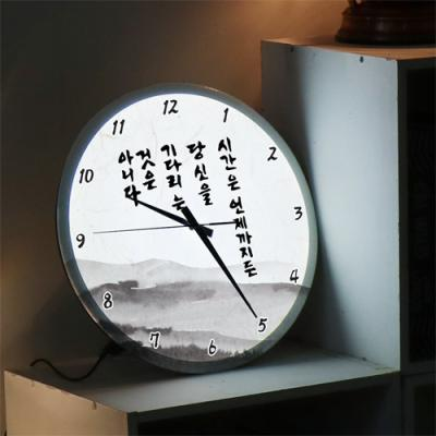 ng215-LED시계액자35R_시간명언