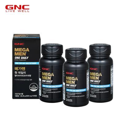 [GNC] 메가맨 멀티비타민앤미네랄 (60정) 60일분 x3병