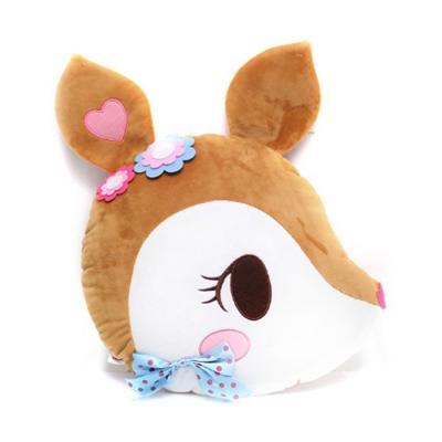 정품 대형 허밍민트 꽃사슴 얼굴 쿠션 45cm
