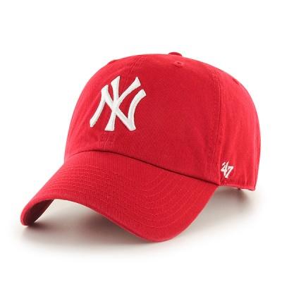 47브랜드 MLB모자 뉴욕 양키즈 레드