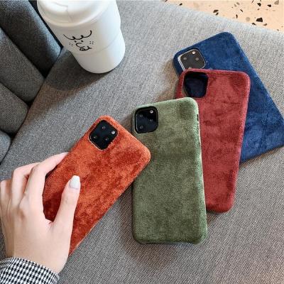 아이폰 11 pro xr 슬림핏 컬러 스웨이드 하드케이스