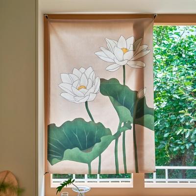 연꽃 일러스트 패브릭 포스터 / 가리개 커튼