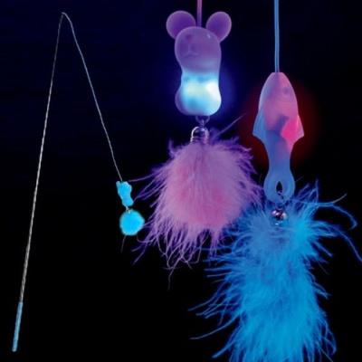 우쭈쭈 고양이 낚시대 쥐 LED 장난감