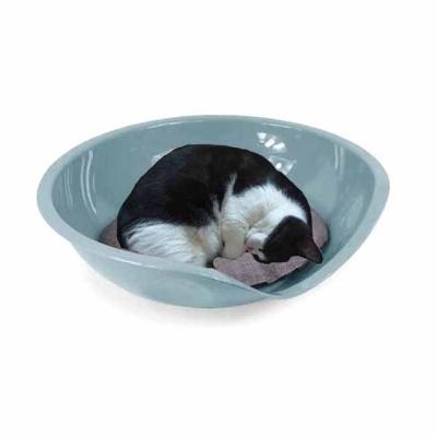유선형 베디 필로우 고양이 베드 방석세트(블루)