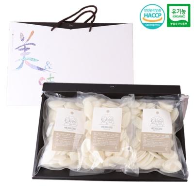 [새해맞이] 유기농 떡국떡 선물세트/1kgx3팩