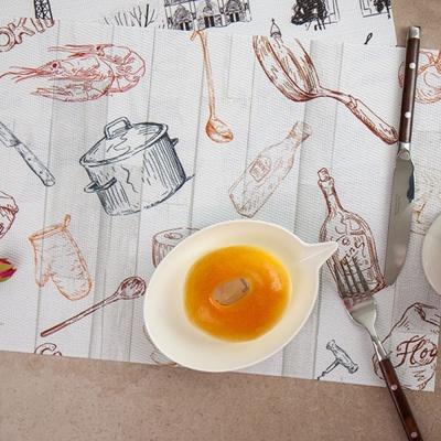 일러스트 테이블 매트 주방 식탁 패드 방수 식탁보