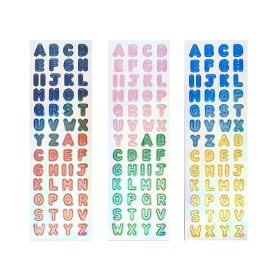 스티커마켓 오로라홀로그램 스티커 (L알파벳 3종)