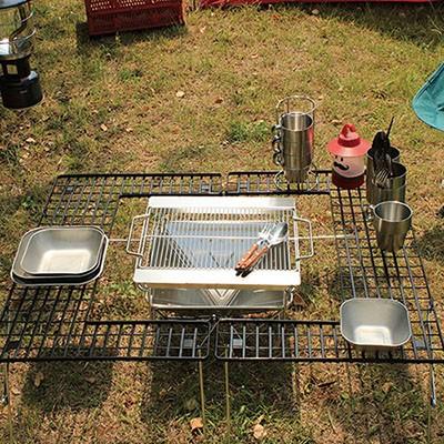 화로대테이블 미니 캠핑 접이식 화로대 바베큐 폴딩