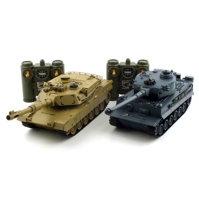 1/28 배틀탱크 세트 R/C TIGER vs M1A2 (YAK139000SET)